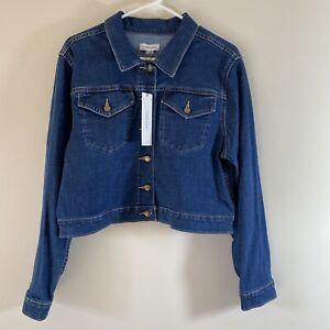 Calvin Klein Cropped Jean Jacket Women's Size XL NEW