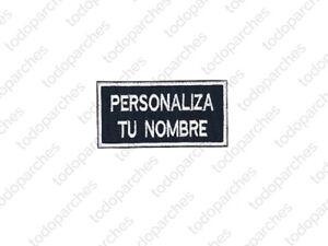 Parche bordado NOMBRE PERSONALIZADO ESTILO 7