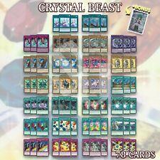 Jesse CRYSTAL BEAST DECK 78 | Rainbow Dragon Bond Bridge Pegasus YuGiOh +BONUS
