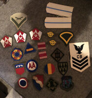 Lot Of 23 Original WWII US Army Patches - MINT CONDITION - Rare Pieces