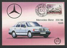 HUNGARY MK MERCEDES BENZ 230 SE AUTO CARS MAXIMUMKARTE MAXIMUM CARD MC CM c1812