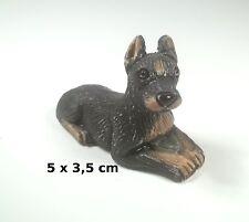 chien miniature en céramique ,collection, vitrine, hondje, dog   G-chiens-W12
