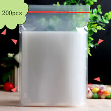 200PCS 4cm x 6cm Plastic Clear Zip Zipper Ziplock Reclosable Storage Bags Cheap