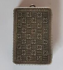 RARE ANTIQUE ISLAMIC AMULET QUR'AN SILVER BOX WITH 2 HOLY QURAN