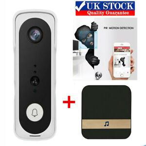 Wireless WiFi Video Doorbell Smart Phone Camera Door Bell Intercom Security UK