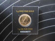 2014  GOLD MAPLE LEAF 1 gram 50 cents CANADA .9999 BULLION