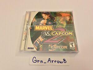 Marvel vs. Capcom 2 (Sega Dreamcast) Tested & Working, Complete, case looks new!