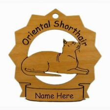 Oriental Shorthair Cat Ornament Personalized With Your Cat's Name 7275