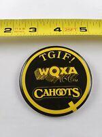 Vintage WQXA Cahoots Radio Station pin button pinback *EE76