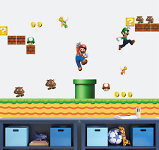 SUPER MARIO BROS Wall Stickers Children Boys Kids Game Playroom Bedroom UK