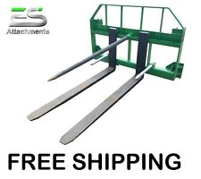 "Free Shipping - Es John Deere Combo 49"" spear 48"" pallet forks Jd quick attach"