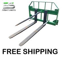 """Es John Deere Combo 49"""" spear 48"""" pallet forks Jd quick attach skid steer loader"""