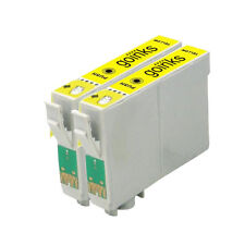 2 Yellow Ink Cartridges for Epson Stylus Photo R240 R245 RX420 RX425 RX520