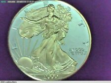 2000 U.S. Silver Eagle with gold Walking Liberty