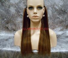 """16"""" HUMAN BLEND FLIP IN SECRET CLEAR WIRE HAIR PIECE EXTENSIONS NO CLIP IN/ON"""