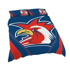 Sydney Roosters NRL Quilt Doona Cover Pillow Case Set - Double Queen King