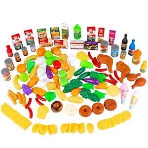 Küchenspielzeug Gemüse Obst 120-Teile Plastik KP6108 Lebensmittel Spielzeug NEU