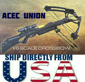1/6 Crossbow Set Arrows The Walking Dead Daryl Dixon Soldier Weapon USA SELLER