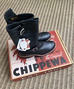 "Chippewa Black Whirlwind Engineer Steel Toe 11"" Boot 1901M03 Sz 9.5 *IMPERFECT*"