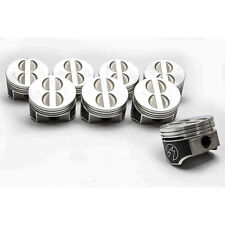 """Set 8 Speed Pro Chevy 350 Forged Coated Flat Top Pistons .030"""""""