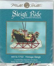 Christmas Vintage Sleigh Ride Charmed Ornaments Cross Stitch Kit Mill Hill