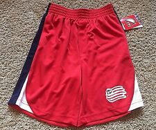 NWT Boy's Red New England Revolution Soccer Athletic Shorts Large 12/14