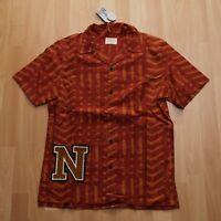 NEU Nudie Jeans, Hemd short sleeved Shirt BRANDON BATIK TERRA M