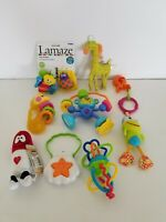 Lot of Various Baby Toys - La Maze Haba Wooden Seashell Giraffe