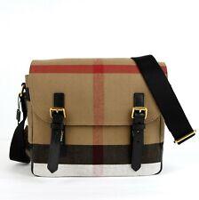 Burberry Unisex Camel Baildon House-Check Canvas Messenger Bag 4020246