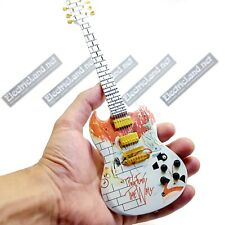 Mini Guitar scale 1:4 PINK FLOYD the Wall tribute miniature gadget collectible