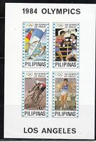 Philippines 1984 Olympics S/S Imperforated Sc 1705 Mint Never Hinged