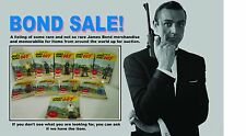 James Bond 007 Gilbert Complete Individual figure set 1 thru 10