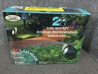 2 Pack Naturally Solar Solar Spotlight 50 Lumens yard light pathway light M37C