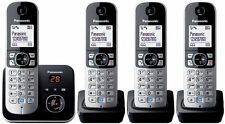 "Panasonic kx-tg6824gb DECT-Telefono senza fili 1,8"" display, segreteria telefonica, NUOVO"