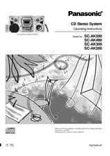 Panasonic SA-AK200 SA-AK300 SK-AK490 SA-AK500 CD Stereo Instruction Manual