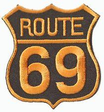 Patche écusson Route 69 transfert thermocollant patch motard brodé