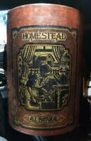 "Homestead Cookie Tin Fresh Baked All Natural 7.5"" x 5.5"" Vintage 1970's"