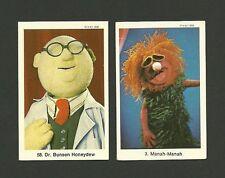The Muppet Show Swedish Cards Jim Henson Dr Bunsen Honneydew Manah Manah
