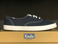 Keds Womens Low Top Champion Fashion Canvas Lace Up Navy Sneakers Shoes NIB