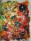Vintage Abstract Painting Signed Sam Francis, Modern Old 20th Century Art