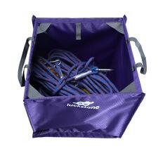 Nylon Rock Climbing Arborist Throw Line Rope Gear Storage Cube Bag - Purple