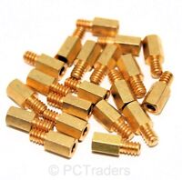 20x 6.5mm Brass Standoff 6-32 - M3 PC Case Motherboard Risers