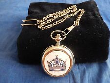 LOS ANGELES KINGS ICE HOCKEY NHL CHROME POCKET WATCH WITH CHAIN (NEW)