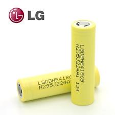 2 x ORIGINALE LG DB 18650 HE4 IMR 2500mAh batteria 20 / 35 bis IMR HIGH DRAIN FLAT TOP