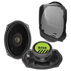 Pair Boss 6×9″ 2-Way Speakers fits: 2014+ Harley Davidson Rear Bag Speaker Kit