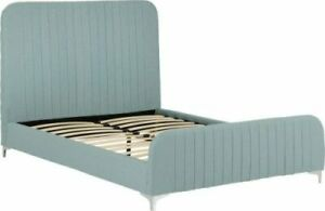 Hampton Teal Fabric Bed Frame - 2 Sizes Available *BRAND NEW*