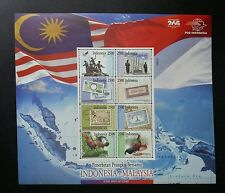 Indonesia Malaysia Joint Issue 2011 Flag Banknotes Chicken (sheetlet) MNH