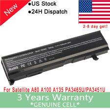 Laptop Battery fr Toshiba Satellite A105 A135 PA3465U-1BRS PABAS069 PA3451U-1BRS