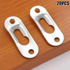 20 Pcs Keyhole Hangers Iron Hanging Plate for Mirror Oil Painting Picture Frames