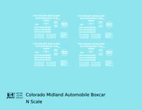 K4 N Decals Colorado Midland 40 Ft Auto Boxcar White